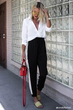 Satin Contrast Drawstring Pants