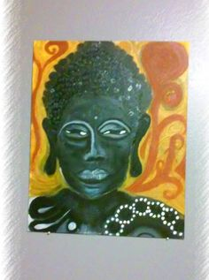 Hey, I found this really awesome Etsy listing at https://www.etsy.com/listing/209241582/abstract-gold-black-buddha-oil-painting