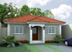 pintura exterior fachadas casas techos rojos - Buscar con Google