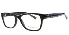 12c0c0ac3d Pin New Coach Eyeglasses Women HC 6068T Black 5002 HC6068T 52mm