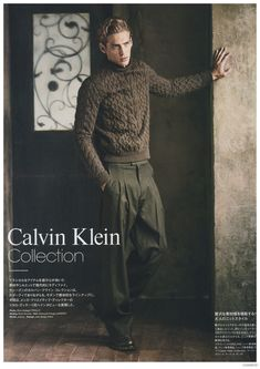 Jeremy Dufour Dons Calvin Klein Collection Fall 2014 Fashions for Loaded Magazine