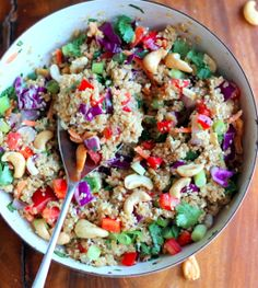 Ingredients •¾ cup uncooked quinoa •1-2 cups shredded r…