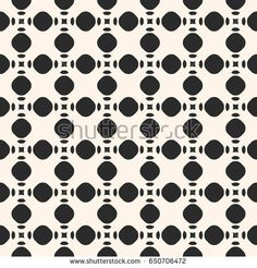 Vector monochrome seamless pattern, simple geometric texture with circles and rounded shapes. Illustration of perforated surface. Abstract endless background