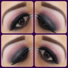 Like the pink tint to the smokey eye look.