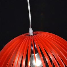 Rod Pendant Lamp Red 37 cm, £33.30, now featured on Fab.