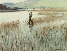 Cecil Maguire, On Kylemore Lake, Connemara at Morgan O'Driscoll Art Auctions