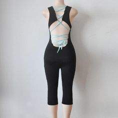 Sexy Women Rompers And Jumpsuits Back Bandage Fitness Clothing Roupa De Ginastica #2616