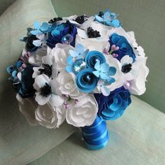 Wedding Bouquet  Paper Bridal Bouquet by jadevinedesign on Etsy, $165.00
