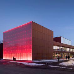 Vendsyssel Theatre, Hjørring, Denmark. By Schmidt Hammer Lassen Architects. Spotted by @missdesignsays