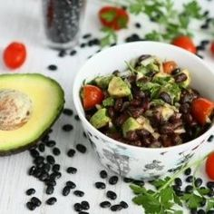 How to pit an avocado recipes raw food diet black bean salad with avocado and grape tomatoes acidrefluxrecipes forumfinder Images
