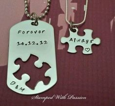 Spring Sale Long distance relationship gift by StampedWithPassion Bryan brian gifts holidays Bf Gifts, Boyfriend Gifts, Cute Gifts, Gifts For Him, His And Hers Jewelry, Long Distance Relationship Quotes, Relationship Goals, Long Distance Love, Couple Necklaces