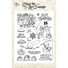 Crafty Secrets 'Winter Wishes' Large Clear Art Stamps - Overstock™ Shopping - Big Discounts on Crafty Secrets Clear & Cling Stamps