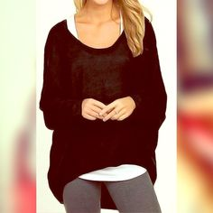 •BLACK Casual Long Sleeve Irregular Batwing Top! •BLACK Casual Long Sleeve Irregular Batwing Top!  Brand NEW with tags in packaging! •Will ship ASAP! ((See other listings for same top in: BLACK, WHITE, GRAY ! In sizes L, M, & Small)) ☺️ more pics available! •ADD 2 Bundle or PURCHASE THRU HERE!•• ❤️           ⚜Material: Cotton Blend  Collar: O-Neck Sleeve: Batwing Sleeve Style: Blouse Pattern: Solid Occasion: Casual Tops Tees - Long Sleeve