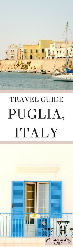 If you're looking for the best travel guide on what to see and do in Puglia, Italy look no further. Click through for a great tour of gallipoli and Santa Maria di Leuca. Perfect for your next Italian holiday Naples, Places To Travel, Places To Visit, Italy Destinations, Italian Village, Italy Holidays, Best Travel Guides, Italy Travel Tips, Capri