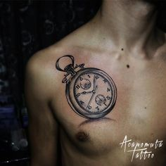 Tattoo clock is a great suggestion for any place of your body.