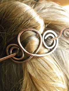 Hair Clip Hair Accessories Hair Sticks Copper by ElizabellaDesign, $18.50