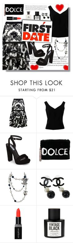 """""""How to wear a Hi-Low Skirt!"""" by disco-mermaid ❤ liked on Polyvore featuring Alexis, ADAM, Steve Madden, Dolce&Gabbana, Chanel, Smashbox, Kenneth Cole and Brooks Brothers"""
