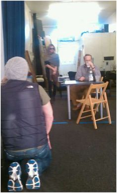 greedy rehearsal 1 (james: foreground) Psych Cast, Maggie Lawson, James Roday, Cool Pictures, It Cast