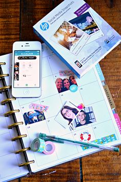 DIY Photo Stickers - Perfect for monthly planner embellishments. Print your own at home!