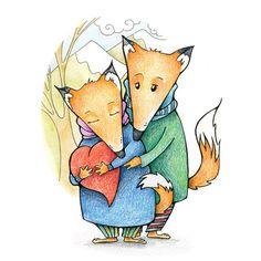 St. Valentine's day card. Мимими, няняня и все такое) может быть, будут открытки к Валентину!  #иллюстрация #любовь #illustration #рисунок #цветныекарандаши #лисы #вдохновение #cute #draw #topcreator #wonwalls #sketch #doodle #fox #instaart #foxart #colorpensils #Valentine #love#tenderness