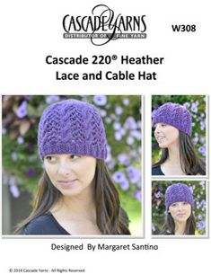 7cdb824147a Heathers Cable and Lace Hat in Cascade 220 - W308