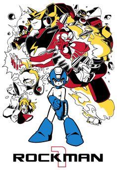Megaman/Rockman 1 Poster
