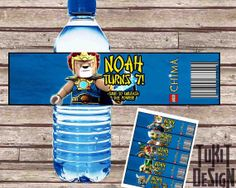 Lego Chima BIRTHDAY party Printable - Bottle Labels - 5 Models Included! Personalized - Digital File