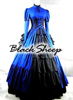 Black Sheep Bride Gothic Steampunk Alternative Formal Prom Gown Wedding Dress