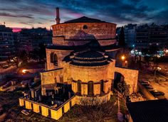 C. Sfikas - Thessaloniki|: A byzantine city - blog.thessaloniki.travel Hagia Sophia, Cities In Europe, Early Christian, 11th Century, Thessaloniki, Byzantine, World Heritage Sites, Big Ben, Greece