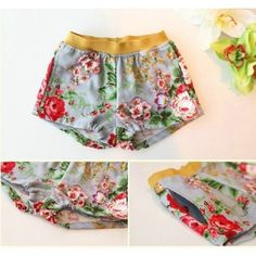 Vindie Baby - Vintage Inspired Clothes for Little Girls. Love these Floral Shorts