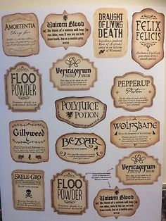 12 x harry inspired potion bottle stickers or 2 extra large – Harry Potter Harry Potter Potion Labels, Décoration Harry Potter, Classe Harry Potter, Harry Potter Bedroom, Harry Potter Wedding, Harry Potter Birthday, Harry Potter Christmas Tree, Harry Potter Halloween, Collection Harry Potter