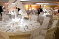 White Wedding Reception in Clipper A Ballroom