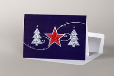 Trees and Star - Christmas Cards, Trees, Calm, Stars, Artwork, Christmas E Cards, Work Of Art, Auguste Rodin Artwork, Tree Structure