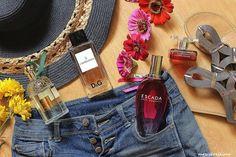 летние ароматы: Guerlain Aqua Allegoria Herba Fresca, Dolce&Gabbana L'Imperatrice №3, Escada Sexy Graffiti, Yves Rocher Flowerparty