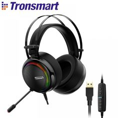 Tronsmart Glary Gaming Headset headset Virtual USB Interface Gaming Headphones for nintendo switch, Computer, Laptop Best Gaming Headset, Ps4 Headset, Headphones For Ps4, Headphones With Microphone, Laptop Computers, Computer Laptop, Internet Bar, Playstation 4 Console, Girls Shoes