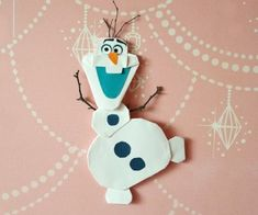 How to make Frozen Olaf Origami step by step tutorial instruction