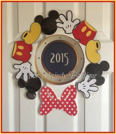 Mickey Mouse Body Part Wreath Magnet for by HairMajestyBoutique, $18.00