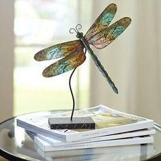 Mini Teal Capiz Dragonfly - Home Decor - Pier One