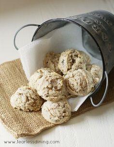 Gluten Free Chestnut Cookies http://fearlessdining.com