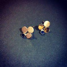 Golden Clover Earrings Jewelry Collection, Stud Earrings, Contemporary, Ear Gauge Plugs, Stud Earring