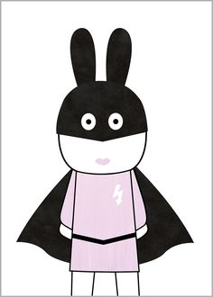 Miniwilla Super Girl Print from Milk Bots