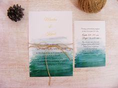 Znalezione obrazy dla zapytania zaproszenia ślubne akwarelowe