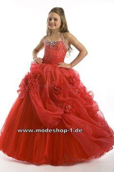 Ballkleid Abendkleid für Mädchen mit 3D Blumen