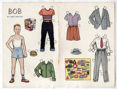 Vintage-BOB-COLLECTS-STICKERS-Paper-Dolls-1955-uncut-Janet-Smalley-Jack-amp-Jill-Mag