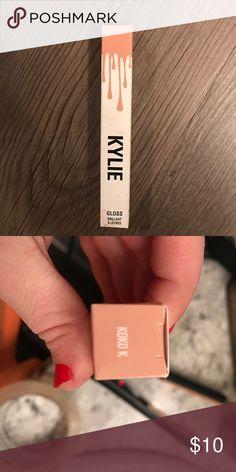 Kylie Lipgloss Koko K Kylie cosmeticas Lipgloss in Koko K. Never used or opened . Kylie Cosmetics Makeup Lip Balm & Gloss