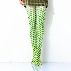 [leggycozy] Kawaii Elegant Three-dimensional Geometric Lattice Pattern Three Dimensional, Stockings, Kawaii, Elegant, Pattern, Fashion, Classy, Moda, Chic