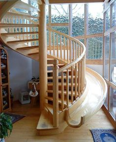 Staircase Slider in a Home!