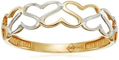 14k Gold TwoTone Heart Ring Size 7 -- To view further for this item, visit the image link.Note:It is affiliate link to Amazon.
