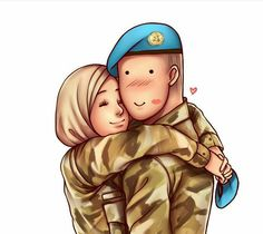 Best Friends Cartoon, Friend Cartoon, Couple Cartoon, Girl Cartoon, Cute Muslim Couples, Cute Couples, Muslim Images, Cute Couple Wallpaper, Hijab Drawing