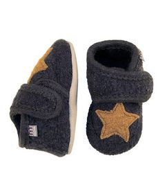 This Melton Baby Gray Star Wool Bootie by Melton Baby is perfect! #zulilyfinds